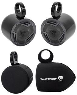 "2 Rockville 6.5"" 750W Rollbar Soundbar Speakers+ Covers For"