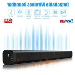 Excelvan 40W Detachable Wireless Soundbar with Built-in Subw