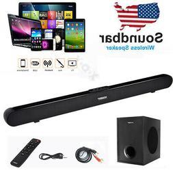 40W Surround Sound Bar 4 Speaker System Wireless Subwoofer T