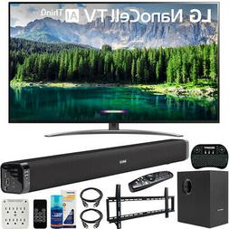 "LG 49"" 4K HDR Smart LED NanoCell TV w/ AI ThinQ  Bundle w/ S"