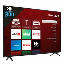 TCL 4K Smart Ultra HD High Dynamic Range  LED Roku 3xHDMI TV