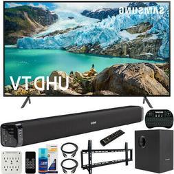 "Samsung 58"" RU7100 LED Smart 4K UHD TV 2019 Model with 31"" S"