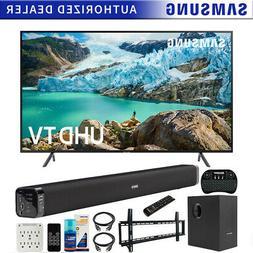 "Samsung 75"" RU7100 LED Smart 4K UHD TV  Bundle with Deco Sou"