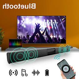 Bluetooth Sound Bar Speaker 3D Mic Stereo System TV Home The