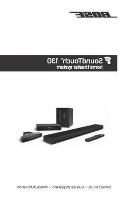 Bose SoundTouch 130 Home Theater System Owners Manual User G
