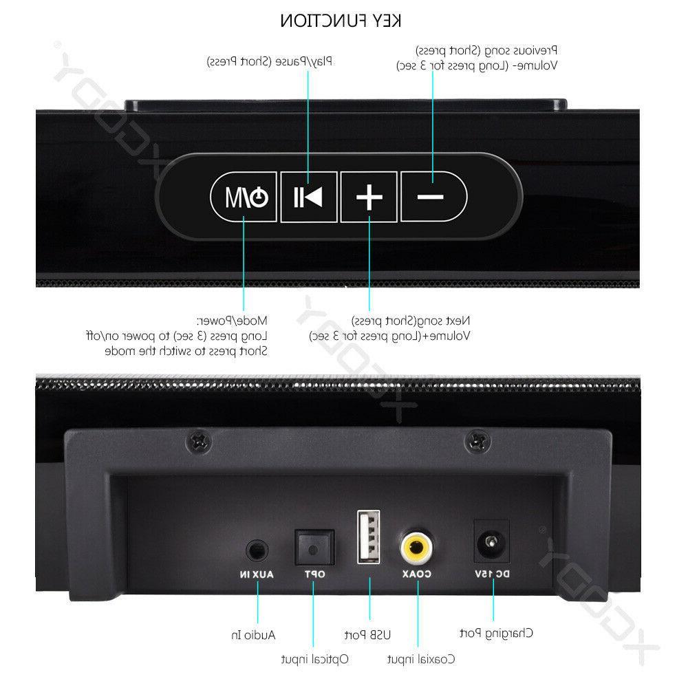 30W System TV Theater Wireless Soundbar Built-in US