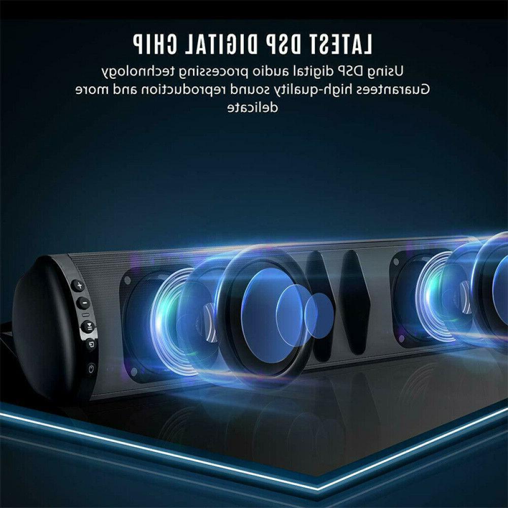 Bluetooth Speaker TV PC Home Sound Bar