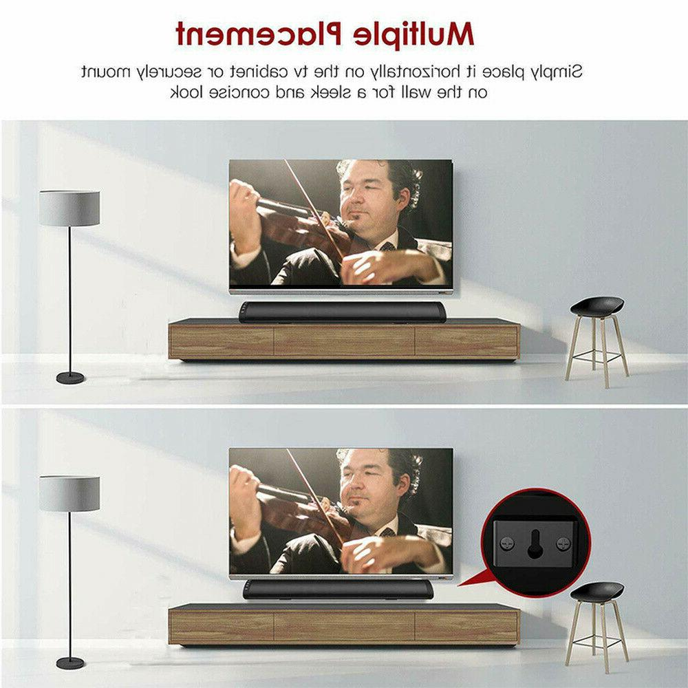 Bluetooth 5.0 TV PC Subwoofer Home Theater Bar