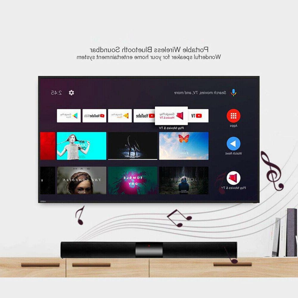 Bluetooth Sound Wireless Bass Subwoofer Theater TV Speaker Remote
