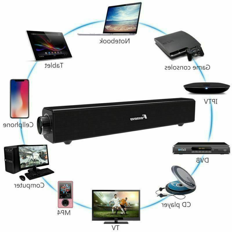 Sound Bar TV Soundbar Wired Wireless Home Theater TV Speaker USA