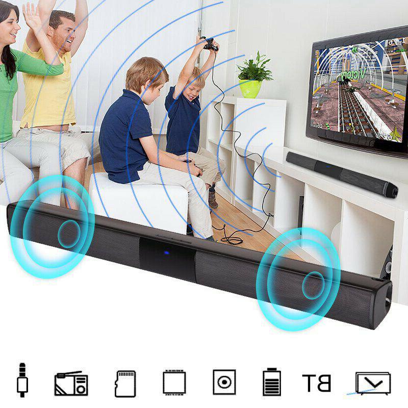 TV Soundbar Wireless Bluetooth Bar Stereo Speaker