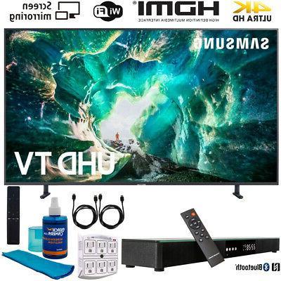"""Samsung UN49RU8000 49"""" RU8000 LED Smart 4K UHD TV  w/ Soundb"""