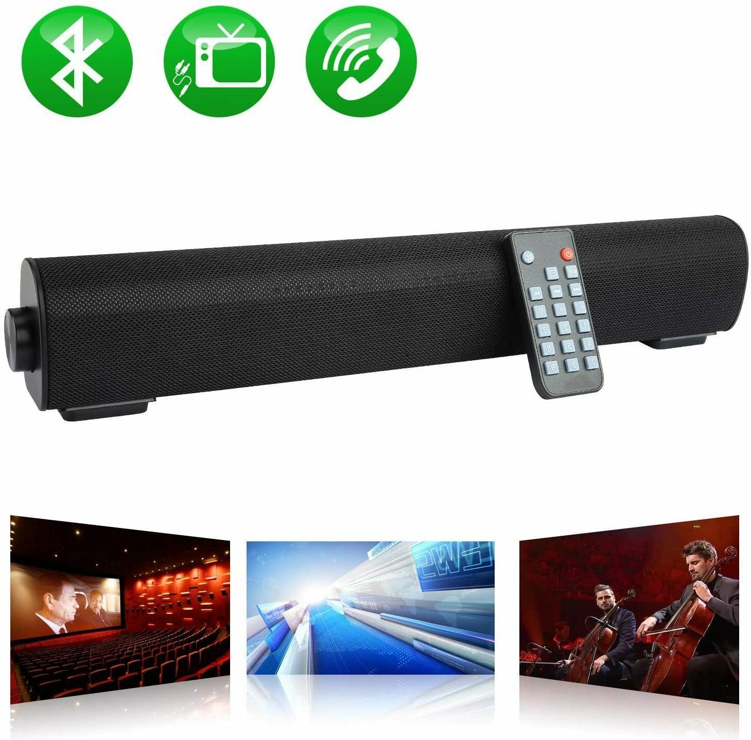 Wireless Bluetooth Bar 20W Soundbar Channel USA