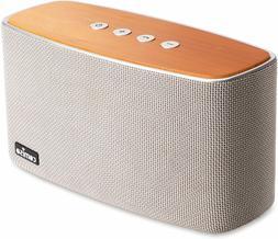 COMISO NatureAudio 30W Bluetooth Speaker, Loud Bamboo Wood H