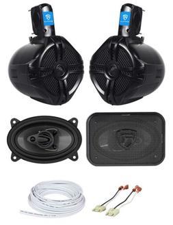 Overhead Soundbar Rollbar+Front Speaker Upgrade Kit for 87-9