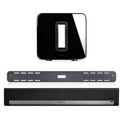 Sonos PLAYBAR Wireless Soundbar w/ PLAYBAR Wall Mount & SUB