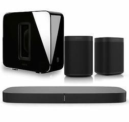 Sonos PlayBase Soundbar Sonos One G2 Black Pair Wireless Spe