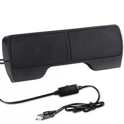 SUPVIN Portable Mini Clip-On USB Powered Stereo Multimedia S