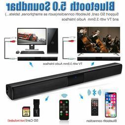Sound bar, Wireless Bluetooth Soundbars for TV, With Remote