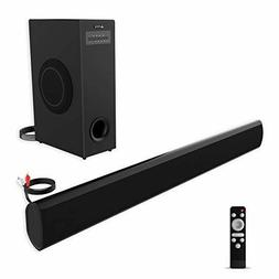 Sound Bar with Subwoofer, meidong TV Soundbar with Sub Wired