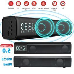 TV Home Theater Soundbar Bluetooth 5.0 Sound Bar Stereo Spea