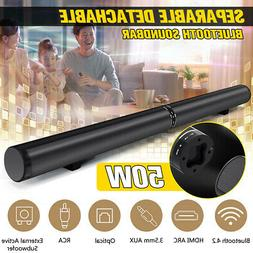 US 50W Detachable bluetooth Speaker Wireless Soundbar Stereo